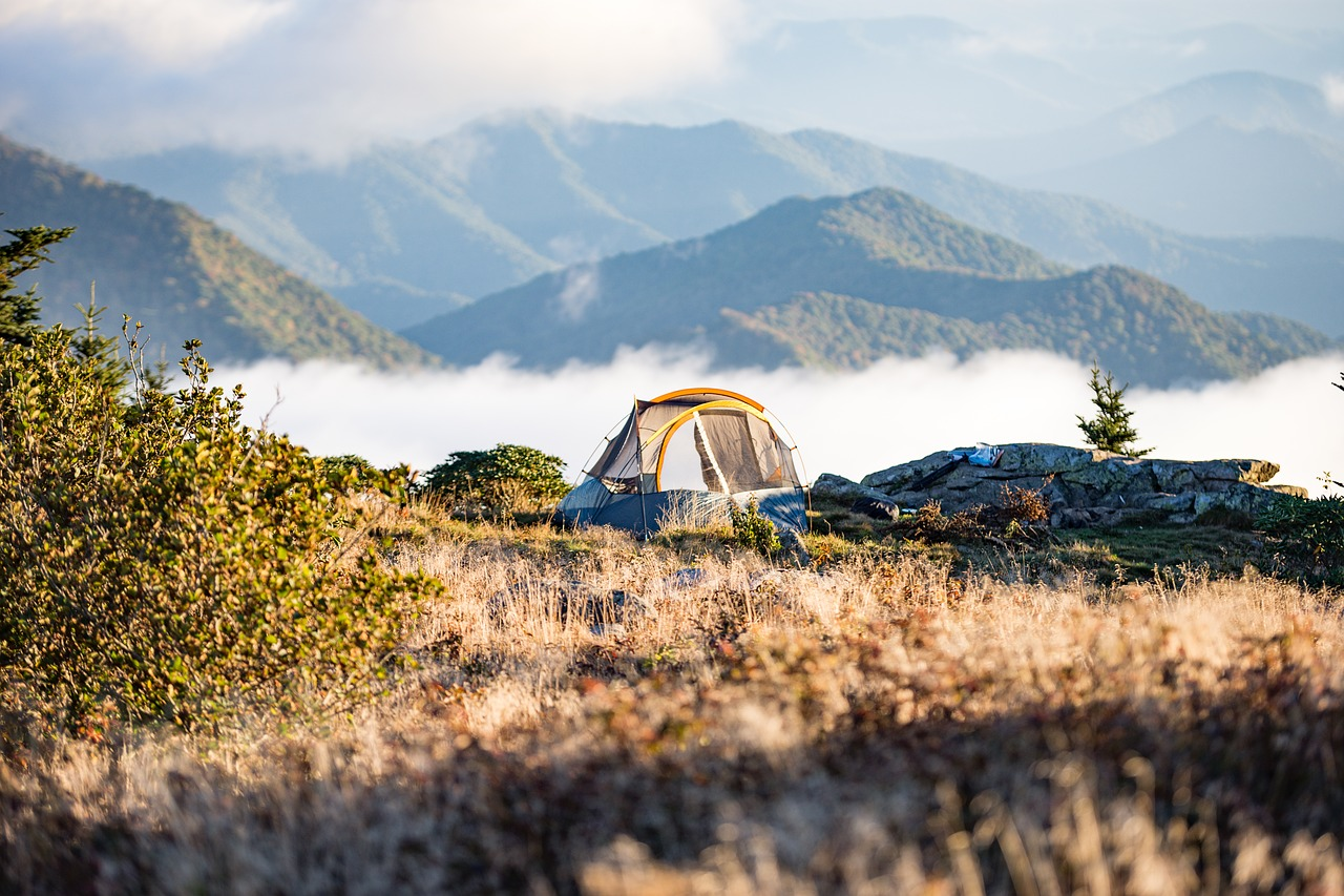 camping on a mountain out of comfort zone