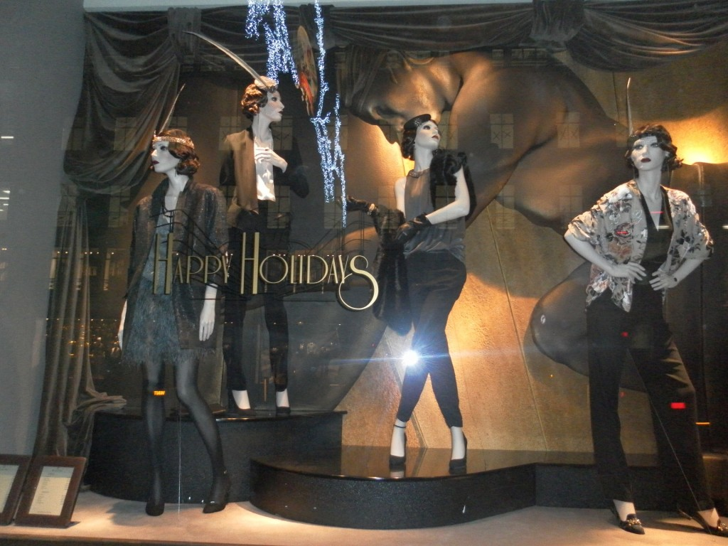 clothes shopping window display