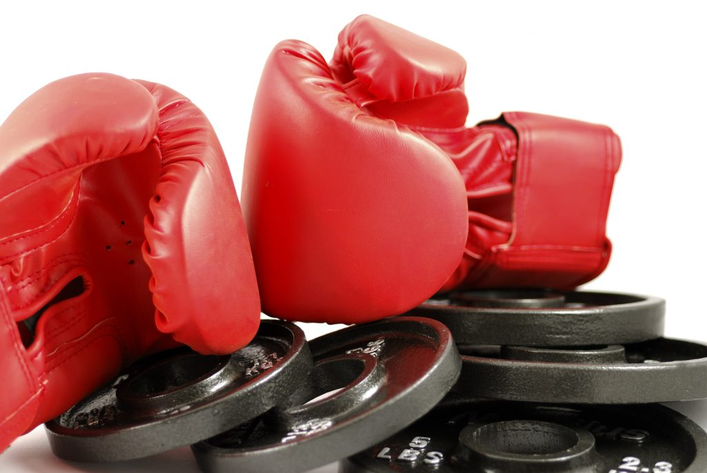 boxing training and weight training