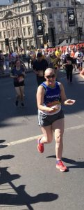 Julie competing in #british10K for Alopecia UK
