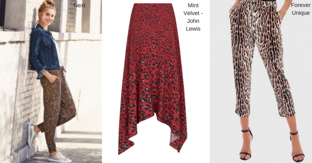 Leopard Print Trousers and Skirts