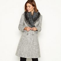 Debenhams Winter Coat With Fur Collar